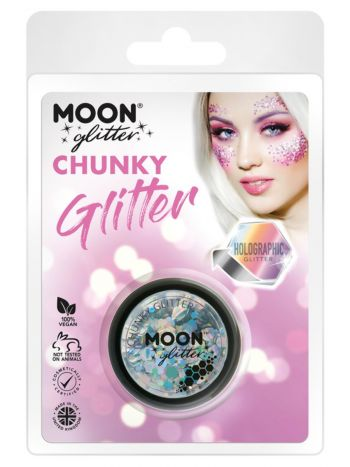 Moon Glitter Holographic Chunky Glitter, Silver