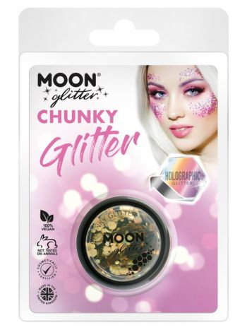 Moon Glitter Holographic  Chunky Glitter, Gold