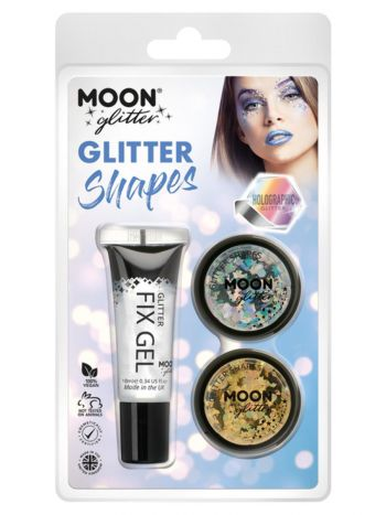 Moon Glitter Holographic Glitter Shapes,