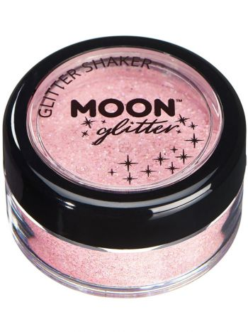 Moon Glitter Pastel Glitter Shakers, Coral