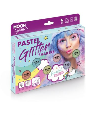 Moon Glitter Pastel Glitter Shakers, Assorted