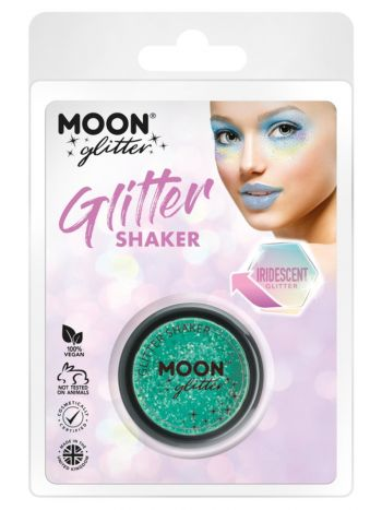 Moon Glitter Iridescent Glitter Shakers, Green