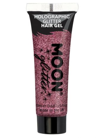 Moon Glitter Holographic Glitter Hair Gel, Pink