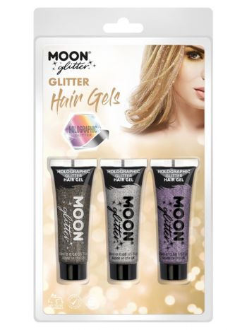 Moon Glitter Holographic Glitter Hair Gel,