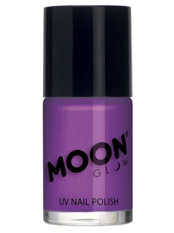 Moon Glow Intense Neon UV Nail Polish, Neon Purple