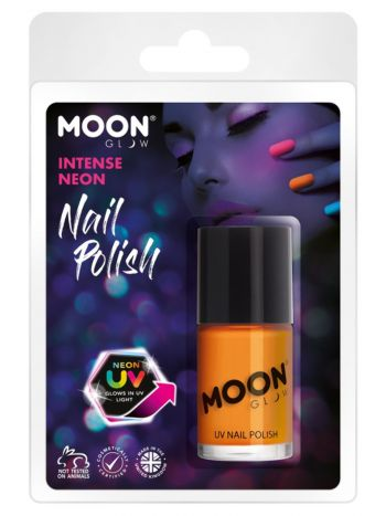 Moon Glow Intense Neon UV Nail Polish, Neon Orange