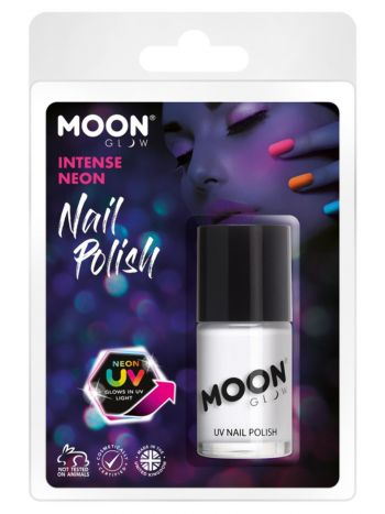 Moon Glow Intense Neon UV Nail Polish, White