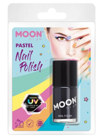 Moon Glow Pastel Neon UV Nail Polish, Black