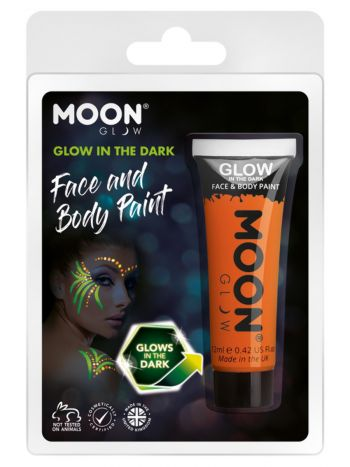 Moon Glow - Glow in the Dark Face Paint, Orange