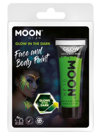 Moon Glow - Glow in the Dark Face Paint, Green