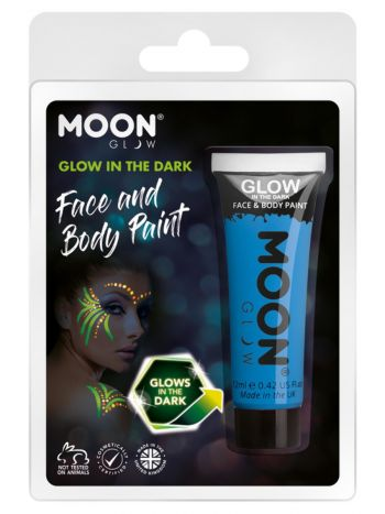 Moon Glow - Glow in the Dark Face Paint, Blue