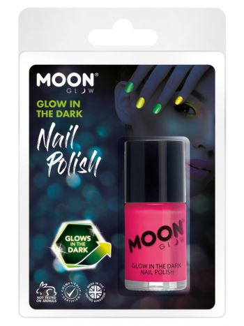 Moon Glow - Glow in the Dark Nail Polish, Pink