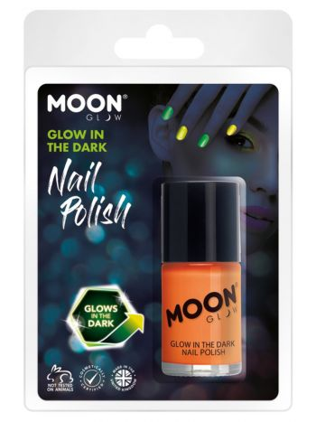 Moon Glow - Glow in the Dark Nail Polish, Orange