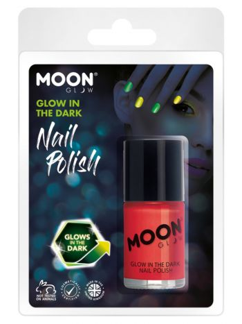 Moon Glow - Glow in the Dark Nail Polish, Red