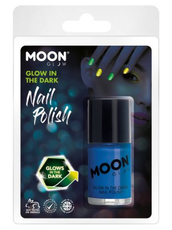 Moon Glow - Glow in the Dark Nail Polish, Blue