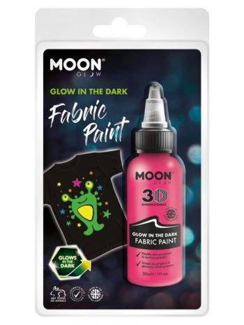 Moon Glow - Glow in the Dark Fabric Paint, Pink