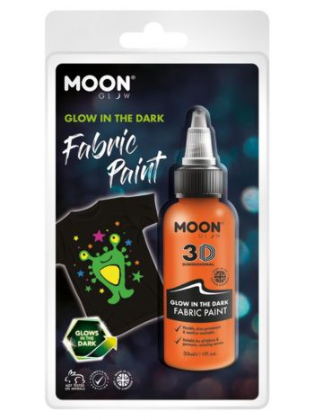 Moon Glow - Glow in the Dark Fabric Paint, Orange