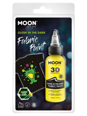 Moon Glow - Glow in the Dark Fabric Paint, Yellow