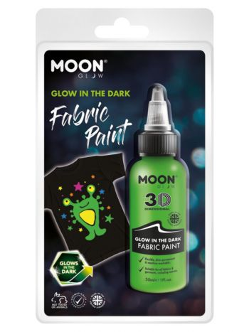 Moon Glow - Glow in the Dark Fabric Paint, Green
