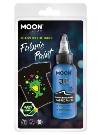 Moon Glow - Glow in the Dark Fabric Paint, Blue