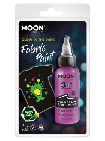 Moon Glow - Glow in the Dark Fabric Paint, Purple