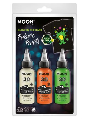 Moon Glow - Glow in the Dark Fabric Paint,
