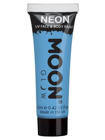Moon Glow Pastel Neon UV Face Paint, Pastel Blue
