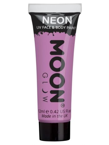Moon Glow Pastel Neon UV Face Paint, Lilac