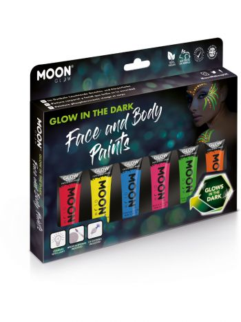 Moon Glow - Glow in the Dark Face Paint, Assorted