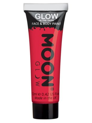 Moon Glow - Glow in the Dark Face Paint, Red