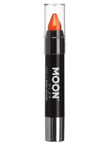 Moon Glow Intense Neon UV Body Crayons, Orange