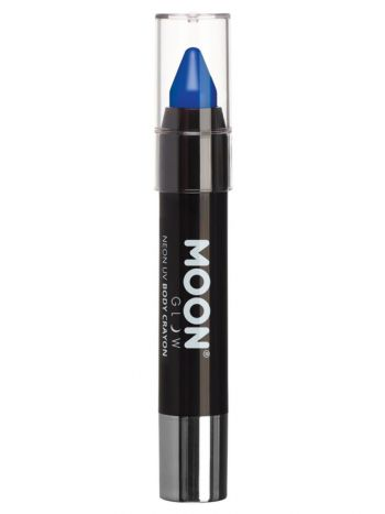 Moon Glow Intense Neon UV Body Crayons, Blue