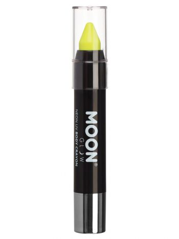 Moon Glow Pastel Neon UV Body Crayons, Yellow