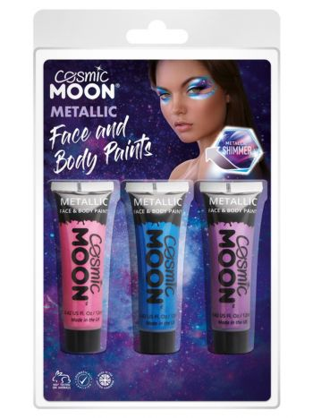 Cosmic Moon Metallic Face & Body Paint,