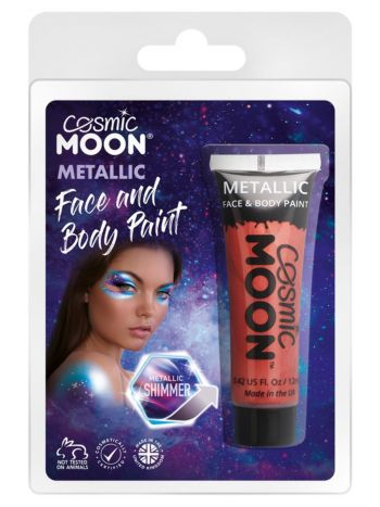 Cosmic Moon Metallic Face & Body Paint, Red