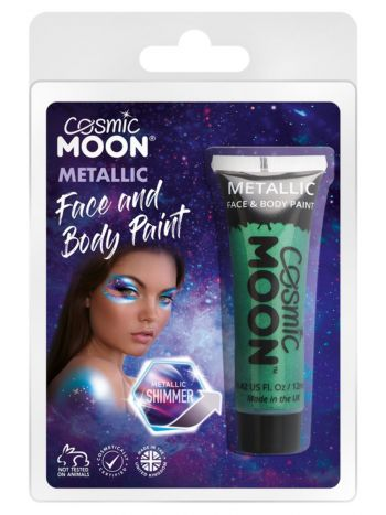Cosmic Moon Metallic Face & Body Paint, Green
