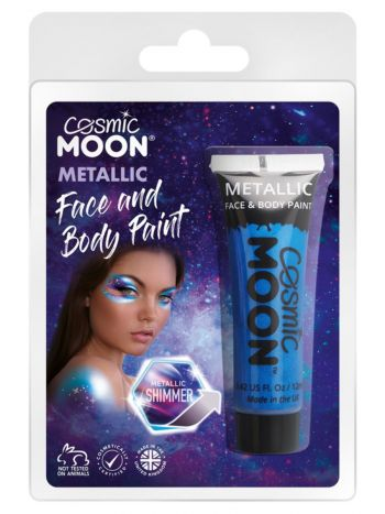 Cosmic Moon Matallic Face & Body Paint, Blue