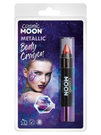 Cosmic Moon Metallic Body Crayons, Red