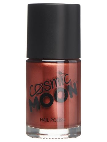 Cosmic Moon Metallic Nail Polish, Red