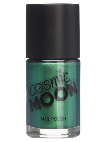 Cosmic Moon Metallic Nail Polish, Green