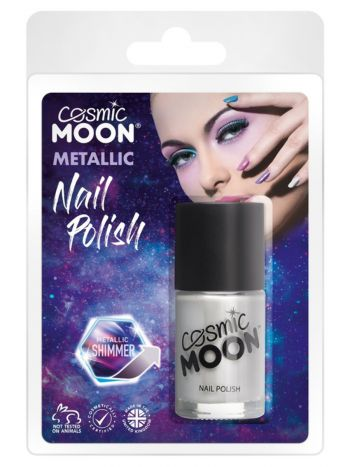 Cosmic Moon Metallic Nail Polish, Silver