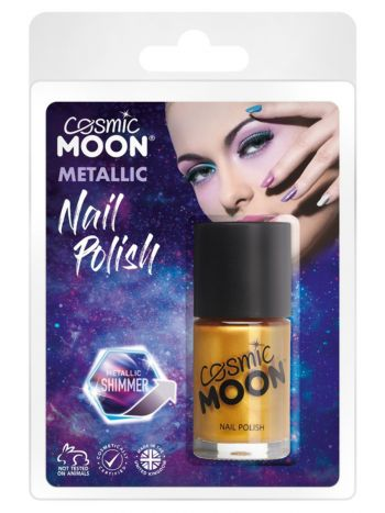 Cosmic Moon Metallic Nail Polish, Gold