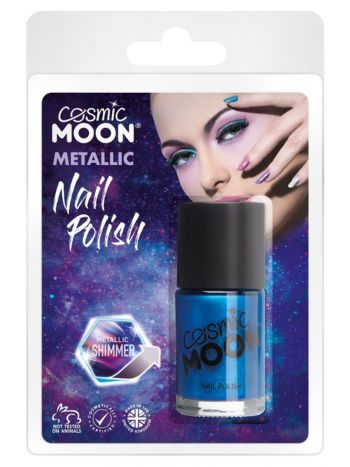 Cosmic Moon Metallic Nail Polish, Blue