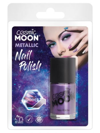 Cosmic Moon Metaillic Nail Polish, Purple