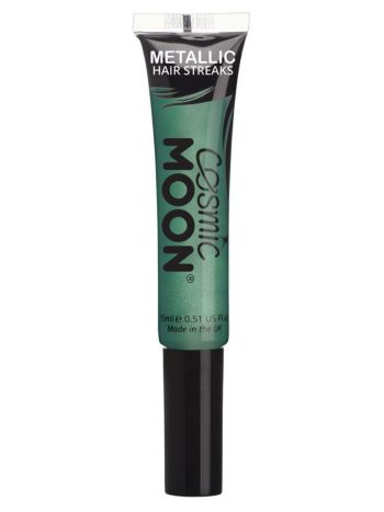 Cosmic Moon Metallic Hair Streaks, Green