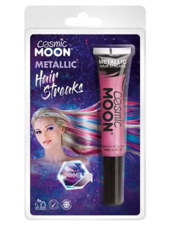 Cosmic Moon Metallic Hair Streaks, Pink