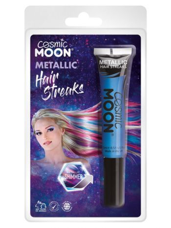 Cosmic Moon Metallic Hair Streaks