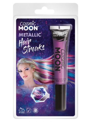 Cosmic Moon Metallic Hair Streaks, Purple