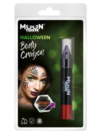 Moon Terror Halloween Body Crayons, Purple