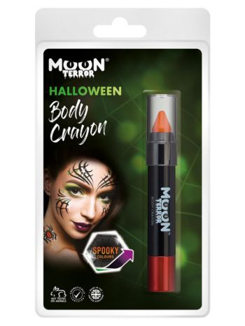 Moon Terror Halloween Body Crayons, Orange